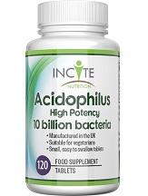 Incite Nutrition Acidophilus High Potency 10 Billion Bacteria Review